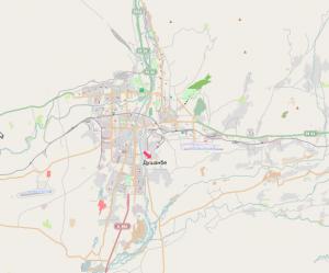 Stadtplanübersicht der tadschikischen Hauptstadt