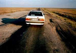 Fernstraße in Kasachstan 1998