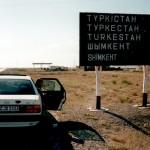 Wegweiser in Kasachstan