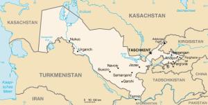 Karte von politische Karte von Usbekistan mit deutscher Beschriftung