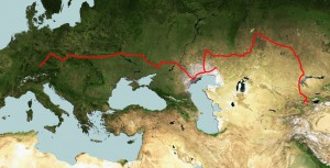 Strecke 2012, Oberflächenkarte