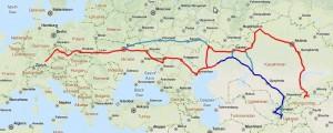 Strecke 2012, Grundkarte
